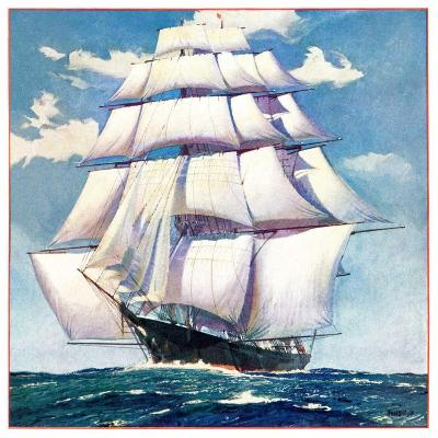 """At Sea,""June 1, 1935--Giclee Print"