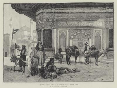At Sultan Ahmed's Fountain in Constantinople-Rudolphe Ernst-Giclee Print