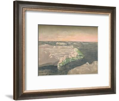 'At Sunset, 22nd September 1893. Water-Colour Sketch', 1893, (1897)-Fridtjof Nansen-Framed Giclee Print