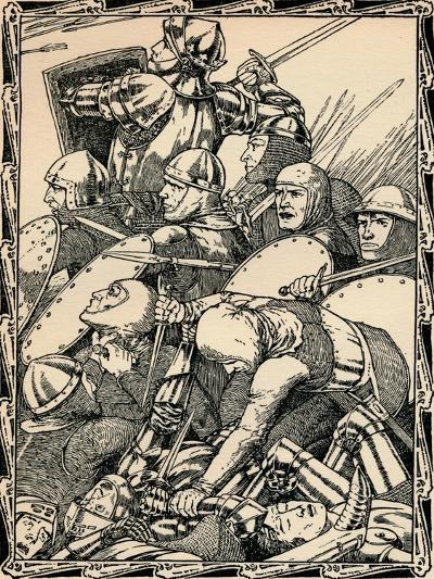 At the Battle of Agincourt, 1902-Patten Wilson-Giclee Print