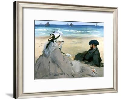 At the Beach, 1873-Edouard Manet-Framed Giclee Print