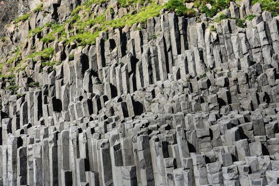 At the Black Sandy Beach of Reynisfjara, Basalt Colums-Catharina Lux-Photographic Print
