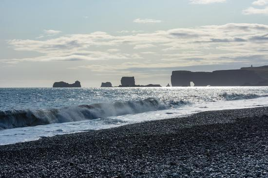 At the Black Sandy Beach of Reynisfjara-Catharina Lux-Photographic Print