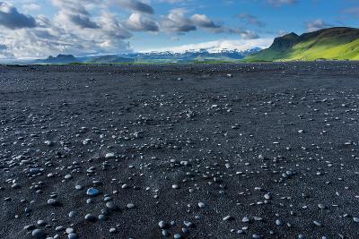 At the Black Sandy Beach of Reynisfjara-Catharina Lux-Photographic Print