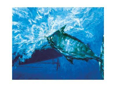 At the Boat, 1976: a Trophy Blue Marlin Is Brought to the Boat at the End of an Epic Battle-Stanley Meltzoff-Giclee Print