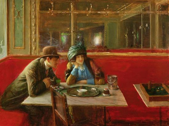 At the Cafe-Jean B?raud-Giclee Print