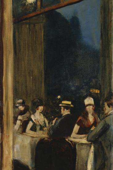 At the Cafe-Lesser Ury-Giclee Print