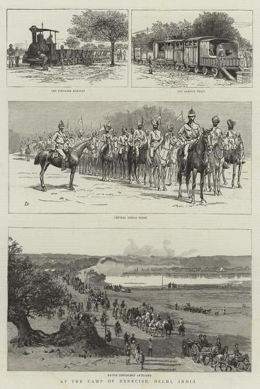 At the Camp of Exercise, Delhi, India-Frank Dadd-Giclee Print