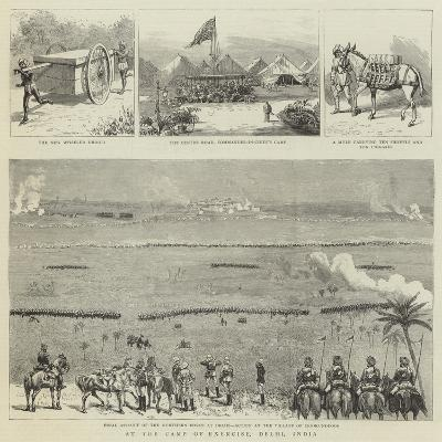 At the Camp of Exercise, Delhi, India--Giclee Print