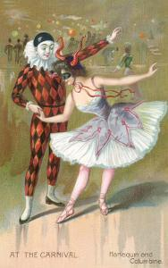 At the Carnival, Harlequin and Columbine