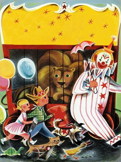At the Circus - Child Life--Giclee Print