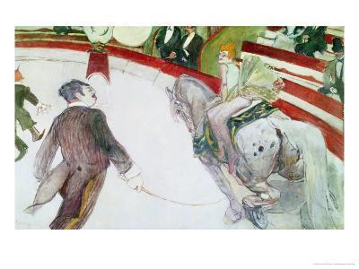 At the Circus Fernando: the Ringmaster, 1887-88-Henri de Toulouse-Lautrec-Giclee Print