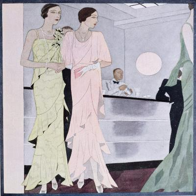 At the Cocktail Party, Fashion Plate from 'Femina' Magazine, April 1930--Giclee Print