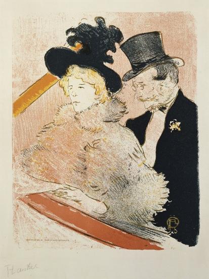 At the Concert, 1896-Henri de Toulouse-Lautrec-Giclee Print