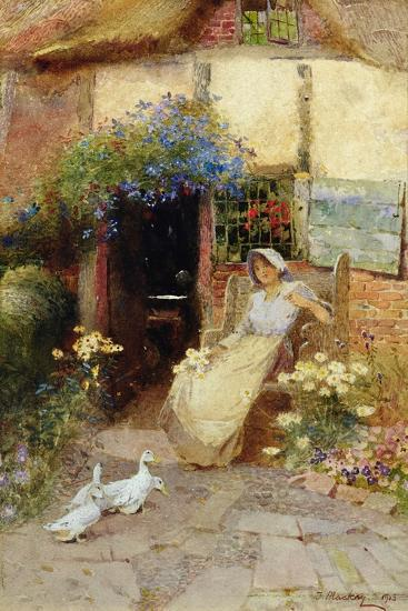 At the Cottage Door, 1913-Thomas Mackay-Giclee Print