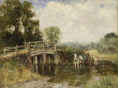 At the Crossing-Henry John Yeend King-Giclee Print