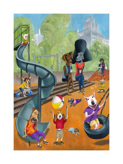 At the Dog Park-Mark Ulriksen-Art Print