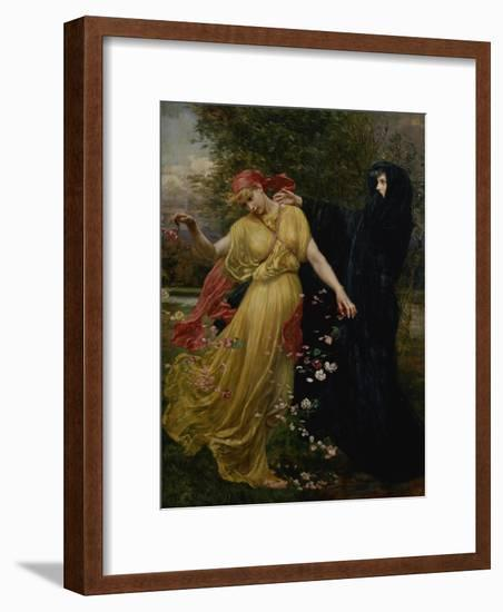 At the First Touch of Winter, Summer Fades Away-Valentine Cameron Prinsep-Framed Giclee Print