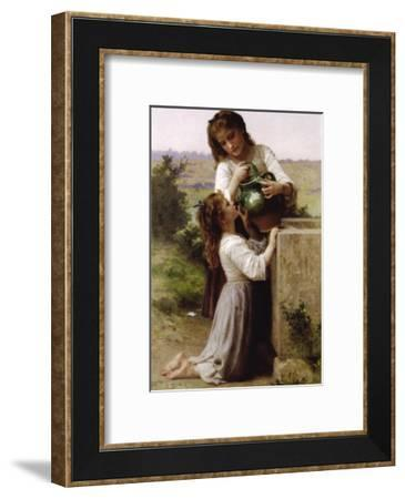 At The Fountain-William Adolphe Bouguereau-Framed Art Print