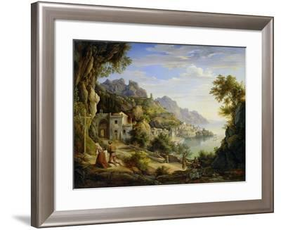 At the Gulf of Salerno, 1826-Joachim Faber-Framed Giclee Print