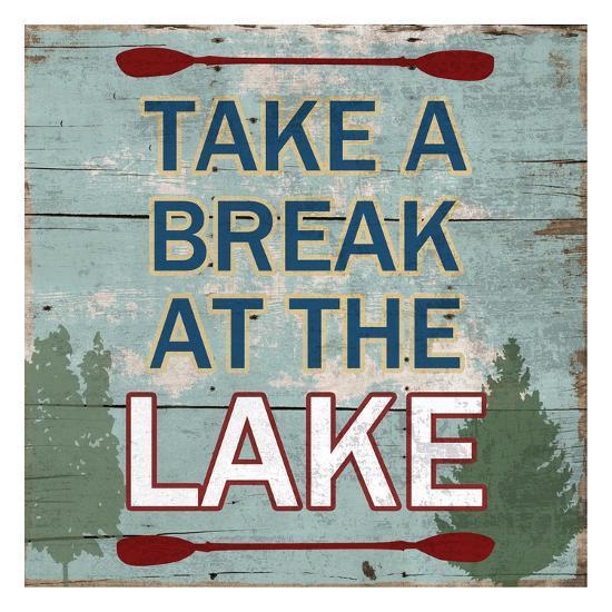 At The Lake-Sheldon Lewis-Art Print