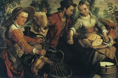 At the Market, C1554-1574-Joachim Beuckelaer-Giclee Print