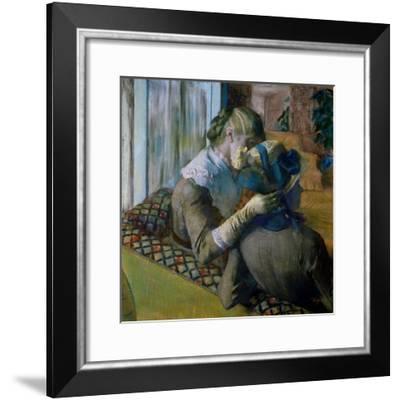 At the Milliner's-Edgar Degas-Framed Giclee Print