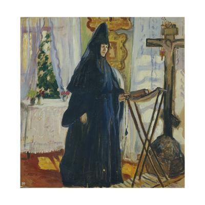 At the Monastic Cell. Prayer, 1915-Olga Ludvigovna Della-Vos-Kardovskaya-Giclee Print