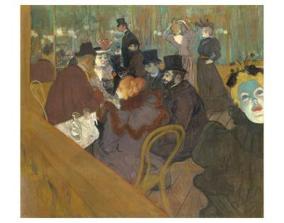 At the Moulin Rouge, 1892-95-Henri de Toulouse-Lautrec-Art Print