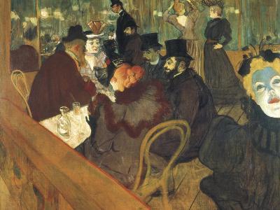 At the Moulin Rouge-Henri de Toulouse-Lautrec-Art Print