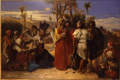 At the Oasis-Jean Francois Portaels-Giclee Print