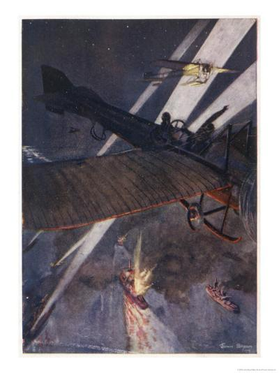 At the Outbreak of War the Role of the Aeroplane was Uncertain-John Bryan-Giclee Print