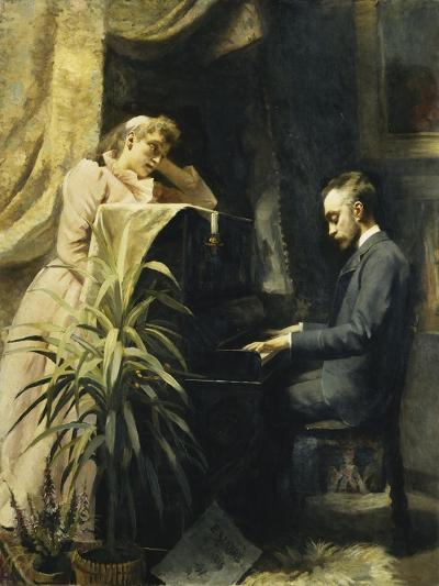 At the Piano-Emma Sparre-Giclee Print