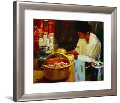 At the Pizza Place-Pam Ingalls-Framed Giclee Print