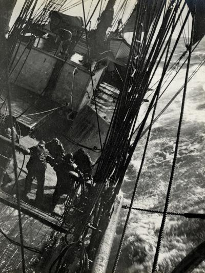 At the Pumps in a Gale in the Antarctic Ocean, 1912-Herbert Ponting-Photographic Print