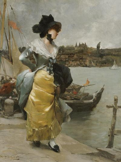 At the Quayside-Emile-auguste Pinchart-Giclee Print