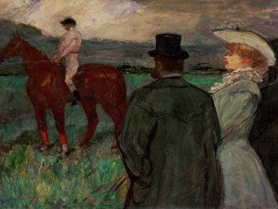 At the Race Tracks, 1899-Henri de Toulouse-Lautrec-Giclee Print