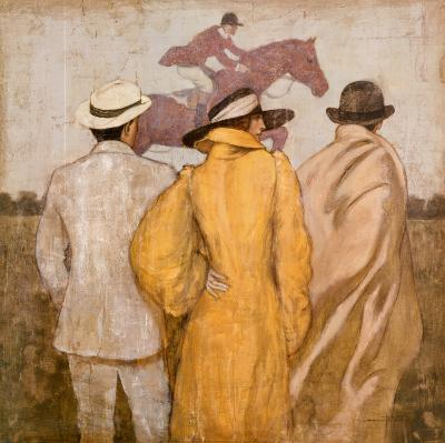 At the Race-Francois Fressinier-Art Print
