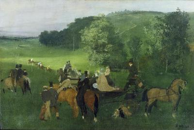 At the Racecourse, 1860-62-Edgar Degas-Giclee Print