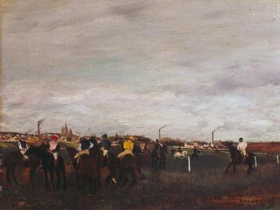 At the Racecourse, before the Race, 1872/73-Edgar Degas-Giclee Print