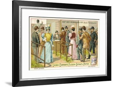 At the Racecourse: Betting--Framed Giclee Print