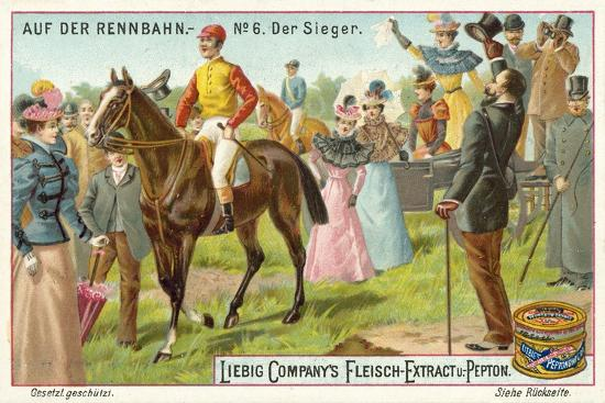 At the Racecourse: the Winner--Giclee Print