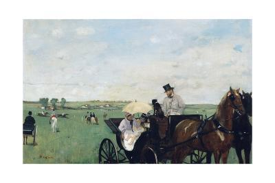 At the Races in the Countryside-Edgar Degas-Giclee Print