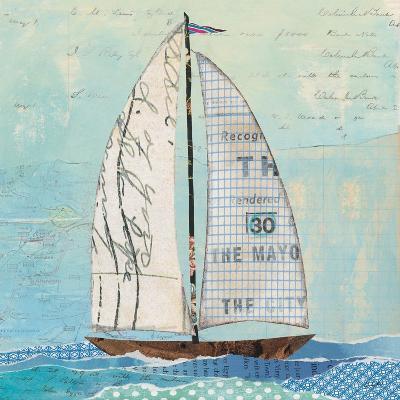 At the Regatta III Sail Sq-Courtney Prahl-Art Print