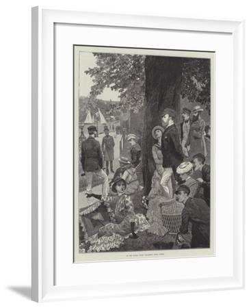 At the Royal Yacht Squadron Club, Cowes-Richard Caton Woodville II-Framed Giclee Print
