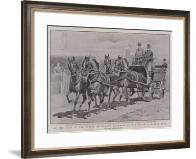 At the Sale of the Prince of Wales's Hackneys at Wolferton, a Useful Team-John Charlton-Framed Giclee Print