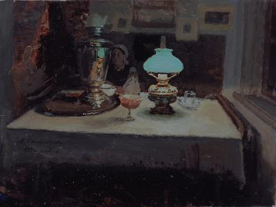 At the Samovar, 1899-Jakov Jakovlevich Kalinichenko-Giclee Print