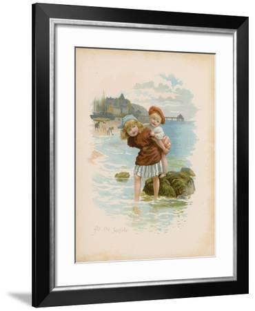 At the Seaside--Framed Giclee Print