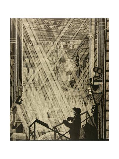 At the Smelter, 1984-Masabikh Akhunov-Giclee Print