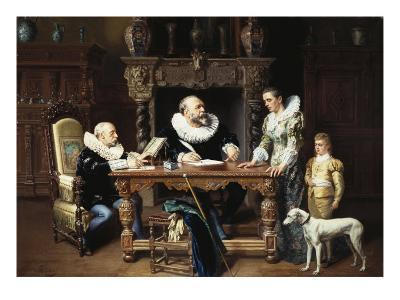 At the Solicitor's, 1892-Gustave Mattele-Giclee Print